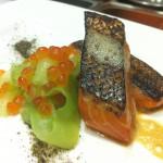 Green Tea Smoked King Salmon Toro
