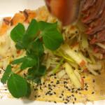 Miso Butter Poached Lobster, Apple Ginger Salad